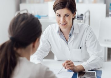 female consultation at fertility clinic